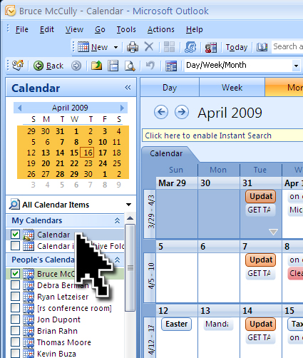 outlook calendar sharing is caring